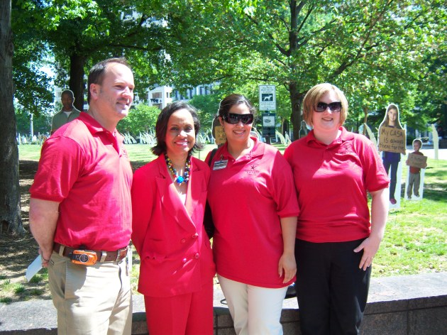 Pictured with Judge Hatchett: Clayton County Staff Members Gerald Bostock, Annell Graniela, and Becky Galbreath.