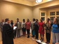 New CASA group being Sworn In
